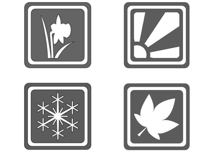 Dibujos De Las 4 Estaciones Para Colorear: Dibujo Para Colorear Símbolos