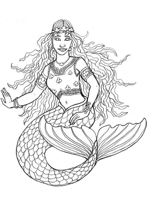 Dibujo para colorear Sirena de Shamrock - Img 6024