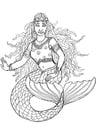 Dibujo para colorear Sirena de Shamrock