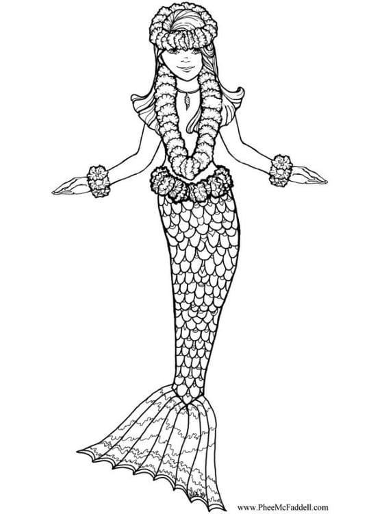 Dibujo Para Colorear Sirena Dibujos Para Imprimir Gratis