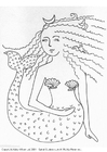 Dibujo para colorear Sirena