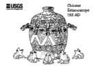 Dibujo para colorear Sismógrafo chino, 132 DC