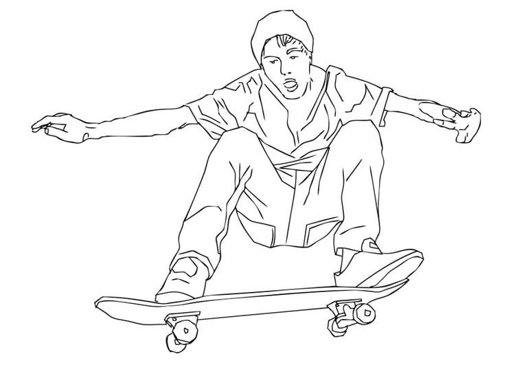 Dibujo para colorear skate - Img 28719