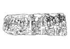 Dibujo para colorear soberanos mayas