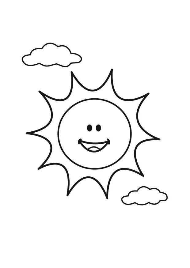 Dibujo para colorear sol - Img 23356