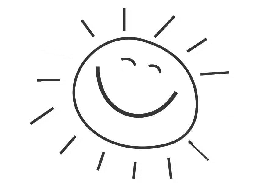 Dibujo para colorear sol - Dibujos Para Imprimir Gratis