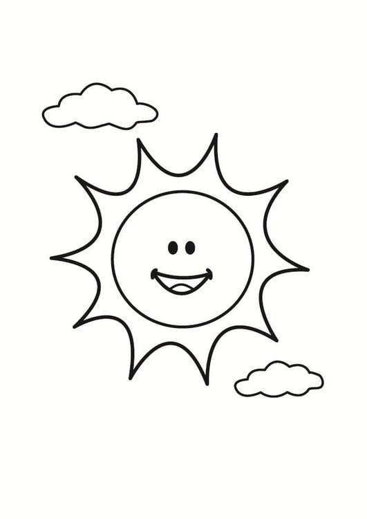 Dibujo para colorear sol   Img 23352