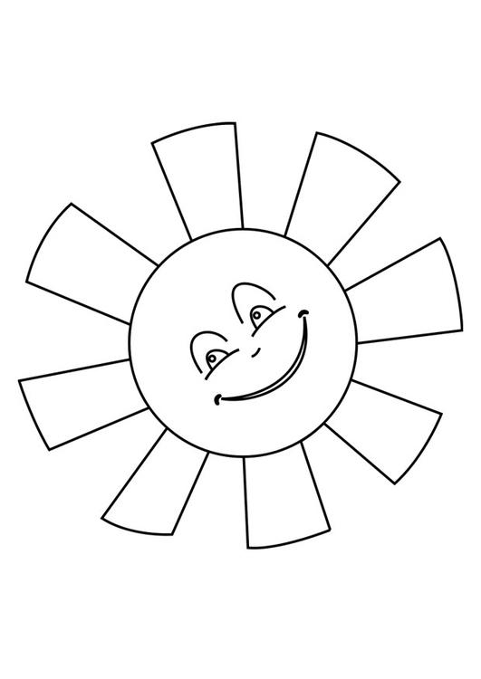 dibujo para colorear sol img 25620