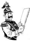 Dibujo para colorear soldado alemán
