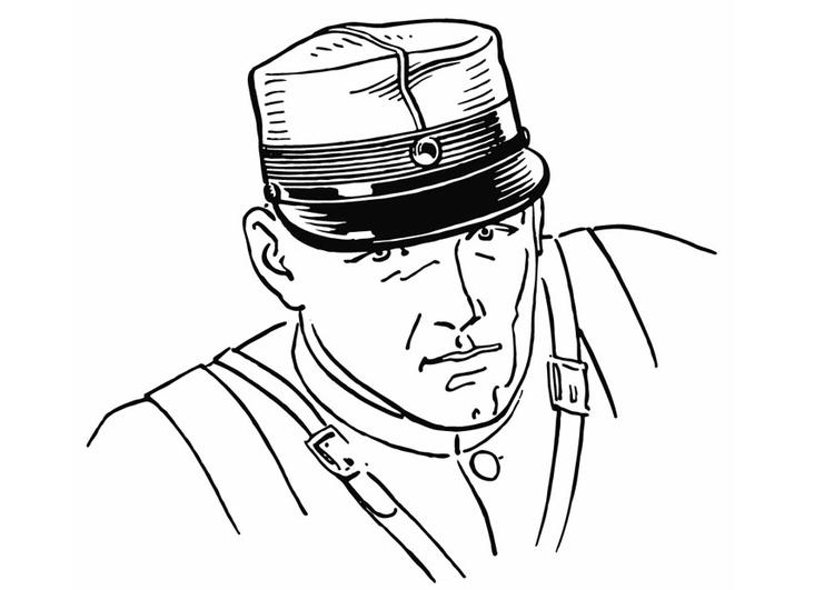 Dibujo Para Colorear Soldado Con Quepi Img 13258