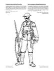 Dibujo para colorear Soldado de la primera guerra mundial