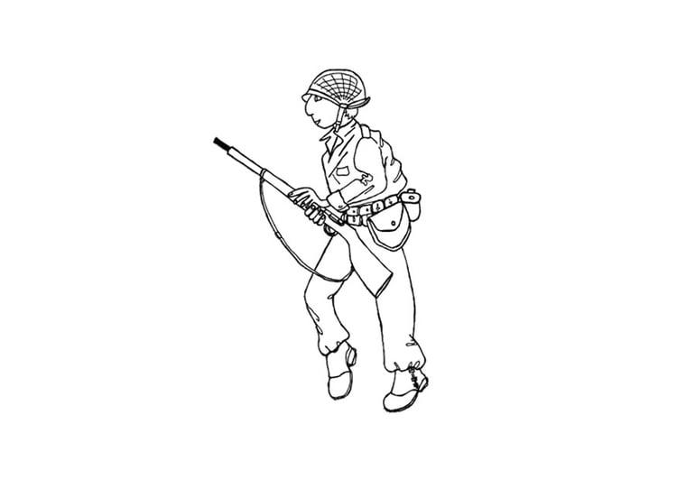 Dibujo Para Colorear Soldado