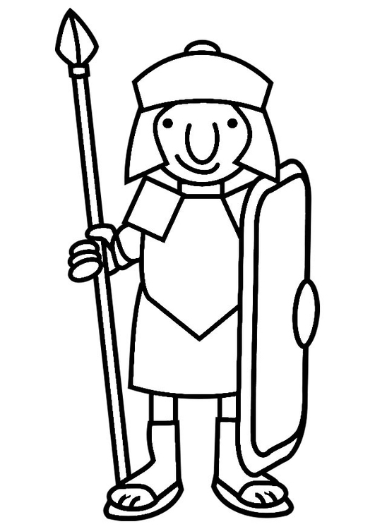 Dibujo para colorear soldado romano - Img 19813