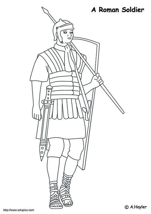 Dibujo para colorear Soldado romano - Img 4186