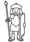 Dibujo para colorear soldado romano