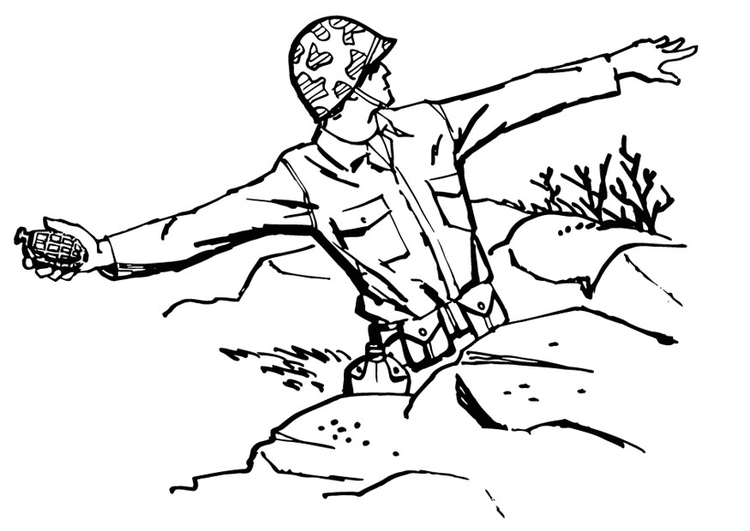 army men fighting coloring pages - photo#19