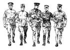 Dibujo para colorear soldados de la primera guerra mundial