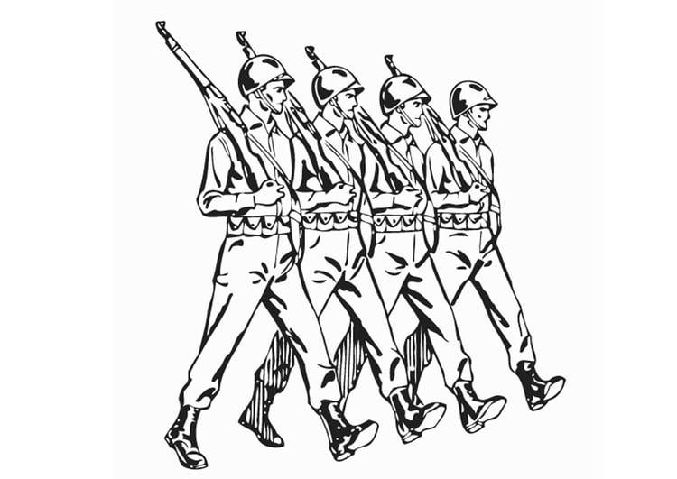 Dibujo Para Colorear Soldados Dibujos Para Imprimir Gratis