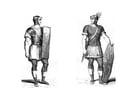 Dibujo para colorear Soldados romanos