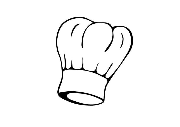 Dibujo para colorear Sombrero de cocinero - Dibujos Para Imprimir ...