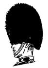 Dibujo para colorear Sombrero de piel de oso