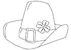 Dibujo para colorear sombrero del Día de San Patricio