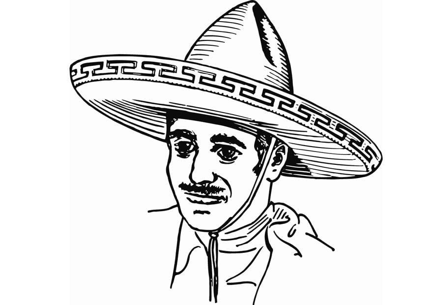 Dibujo Para Colorear Sombrero Dibujos Para Imprimir Gratis