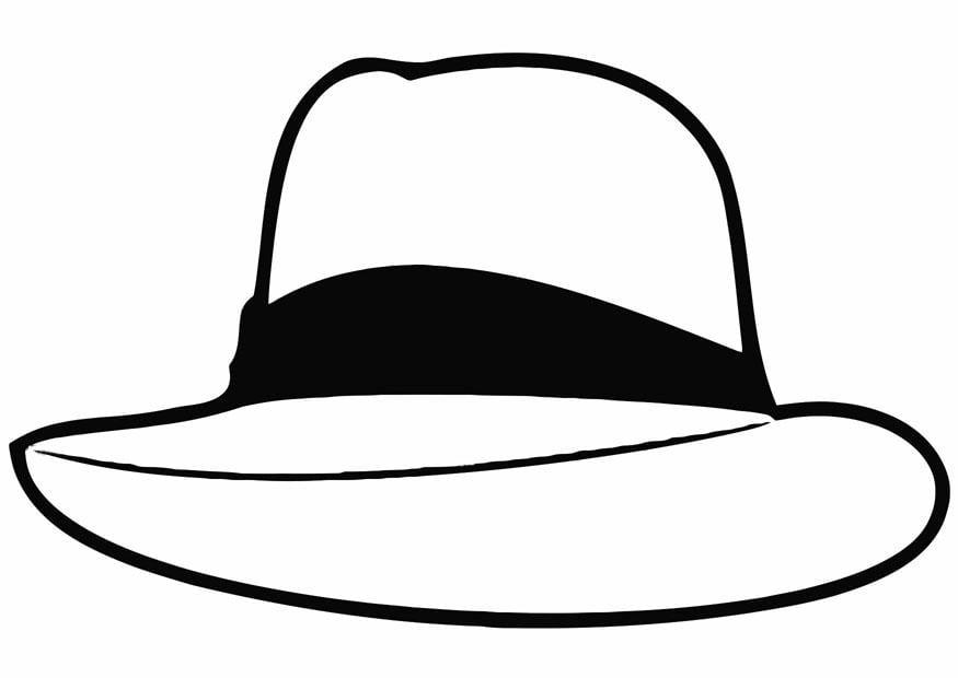 Dibujo para colorear sombrero  Img 19337