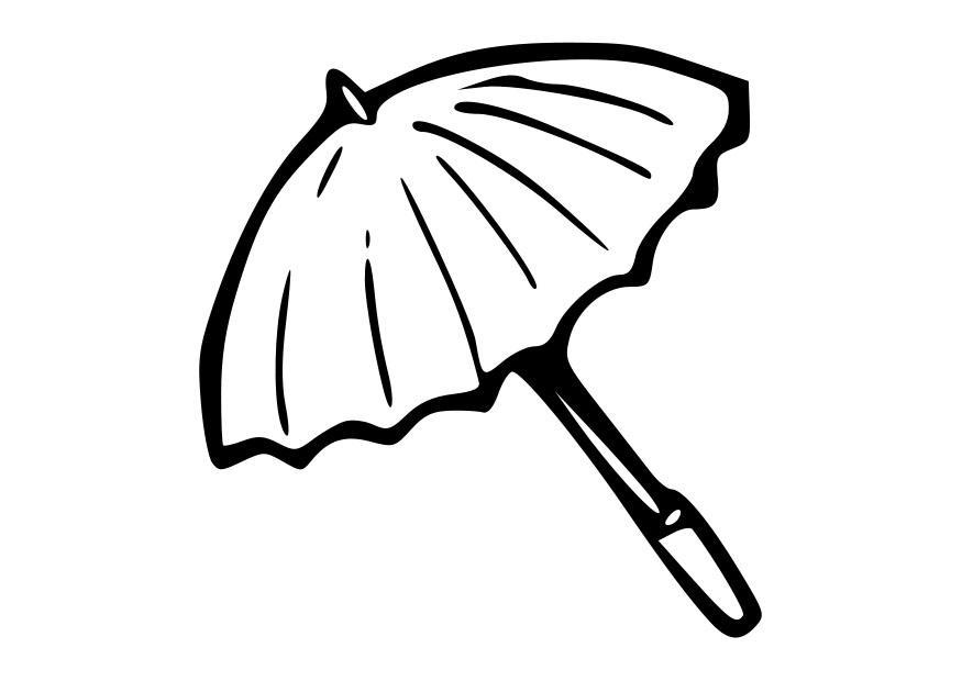 Dibujo para colorear sombrilla img 19882 - Dessin parasol ...