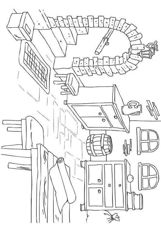 Dibujo para colorear s tano img 26225 for Cuarto para colorear
