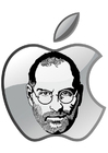 Dibujos para colorear Steve Jobs - Apple