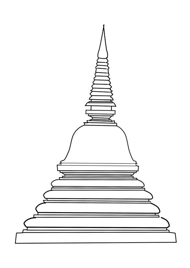 dibujo para colorear stupa  img 25619