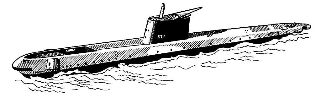 dibujo para colorear submarino img 16029