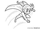 Dibujo para colorear superheroína