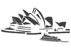 Dibujo para colorear Sydney