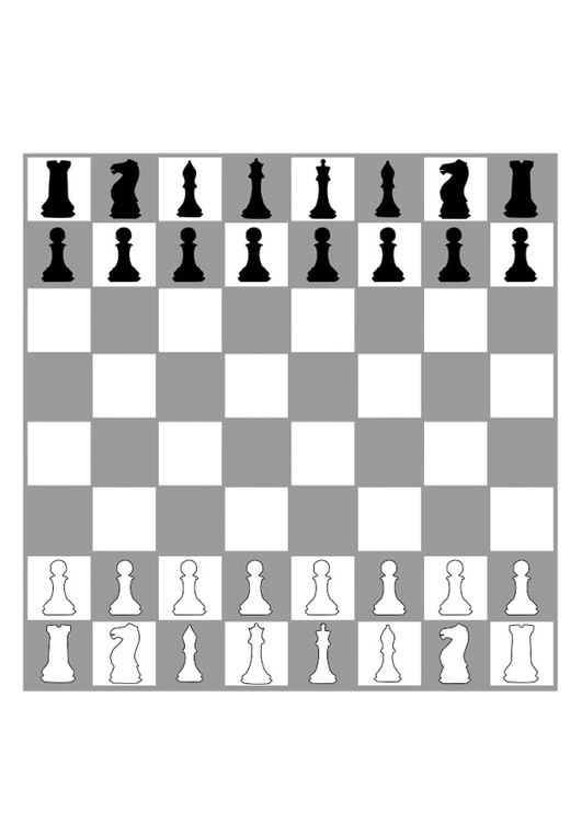 Dibujo para colorear tablero de ajedrez - Img 29415