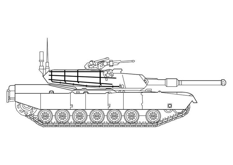 Dibujo para colorear Tanque Abrams - Img 10142