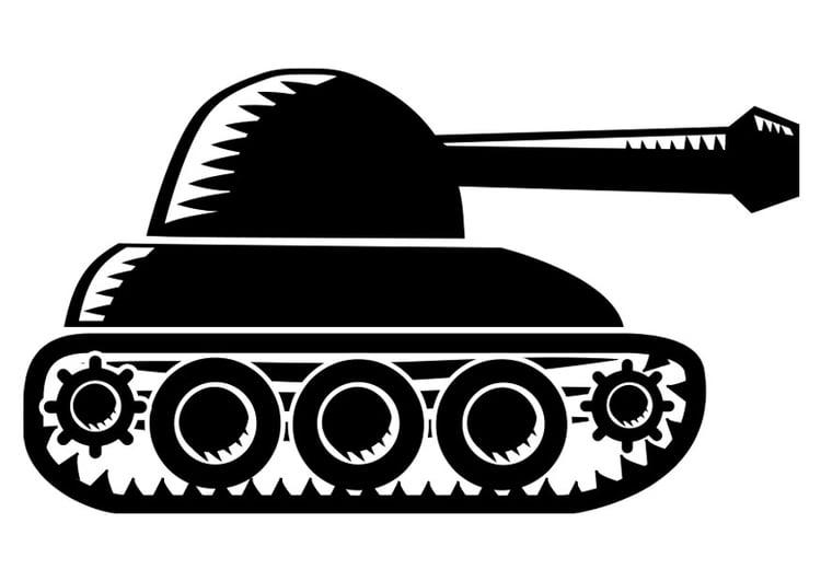 Dibujo para colorear tanque - Img 22517