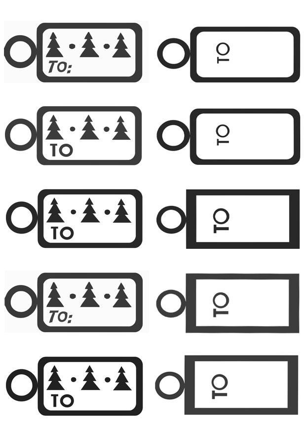 Dibujo Para Colorear Tarjetas Para Regalos De Navidad