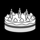 Dibujo para colorear Tarta - cumpleaños