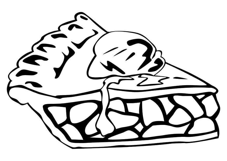 Dibujo para colorear Tarta de manzana  Img 10256