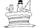 Dibujo para colorear Tarta de navidad