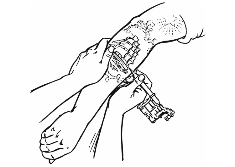 Dibujo Para Colorear Tatuaje Img 13282