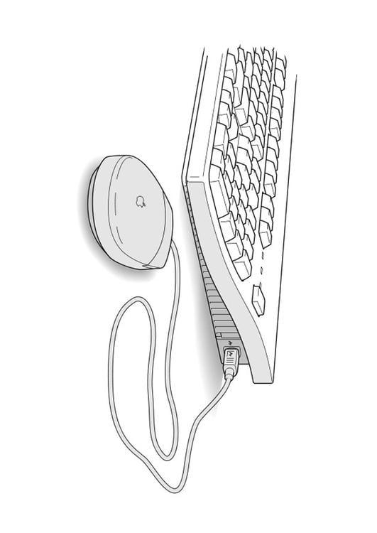 dibujo para colorear teclado y rat u00f3n