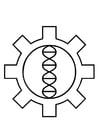 Dibujo para colorear tecnología genética de biohacking