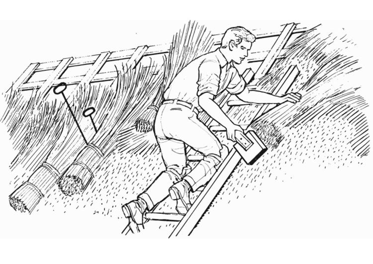 Dibujo para colorear tejado de paja img 13236 - Dibujos de tejados ...