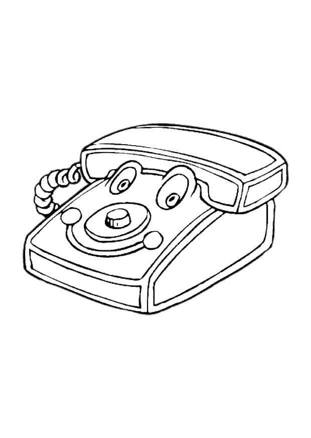 Dibujo Para Colorear Teléfono De Juguete Dibujos Para