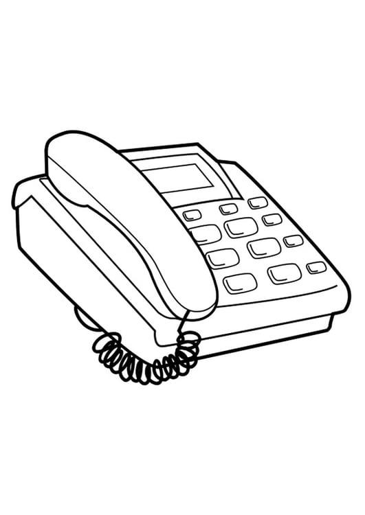 Dibujo Para Colorear Teléfono Img 29731