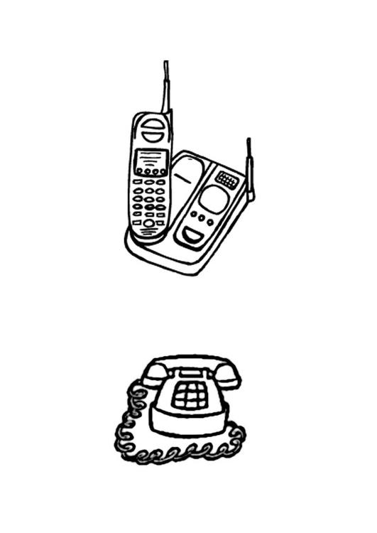 Dibujo Para Colorear Teléfonos Img 22873