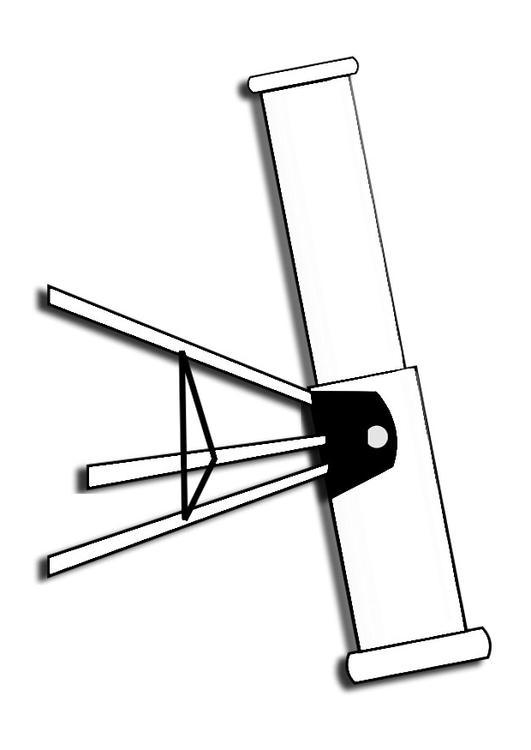 Dibujo para colorear telescopio - Img 27986